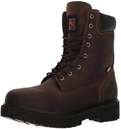 Timberland PRO Mens Direct Attach 8 Inch Waterproof Work Work Safety Shoes Casual - Brown - Size 8 D