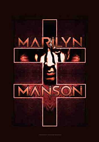 Manson, Marilyn – Double Cross – poster drapeau 100% polyester – Taille 75 x 110 cm