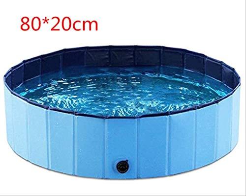 LMDZSW Faltbarer Pool Hund Haustier Schwimmbad für Hund Großes zusammenklappbares Haustier Spiel Waschbecken für Katze Großer Hundblau m