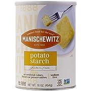 Manischewitz Pure Potato Starch, 16oz (1LB Resealable Container) Gluten Free, Non GMO