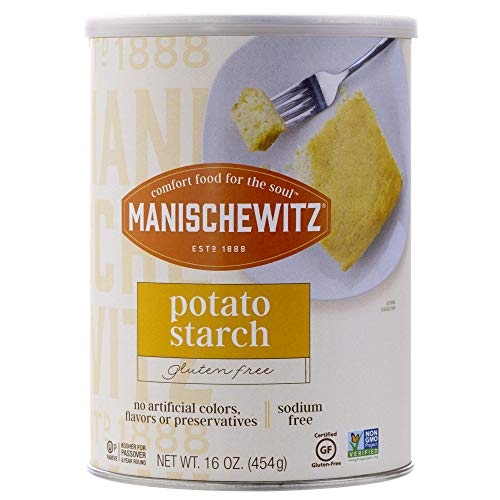 Manischewitz Pure Potato Starch, 16oz (1LB Resealable Container) Gluten Free, Non GMO