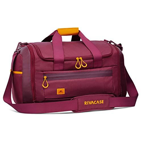 Rivacase Sporttasche mit Schuhfach - Duffelbag aus hochwertigem, wasserabweisendem Material mit PU-Laminierung - Schultertasche - Schwimmtasche - Weekender -...