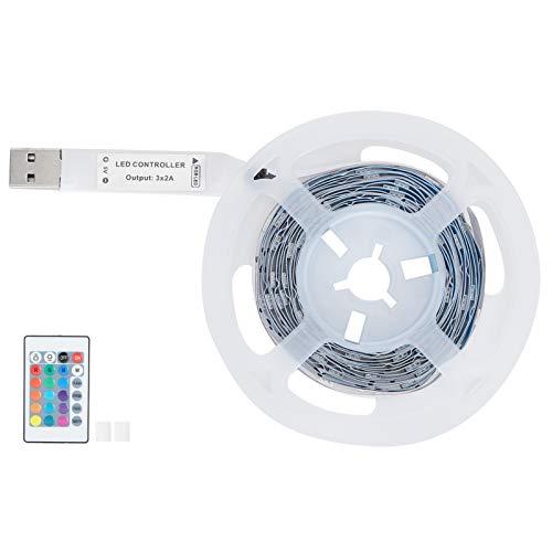Fournyaa Cinta de luz LED, práctica retroiluminación LED de TV No Deslumbrante Conveniente para Acampar para Salidas de Viaje para decoración del hogar