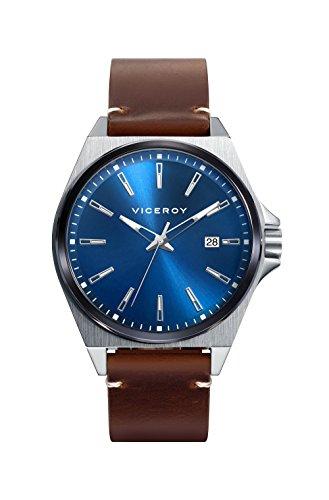 Viceroy Herren Analog Quarz Smart Watch Armbanduhr mit Leder Armband 471145-37
