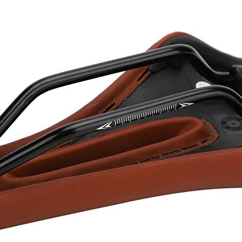 Limouyin Bike Seat, Universal Bike Cushion Hollow Design Shockproof,for Men and Women(brown)