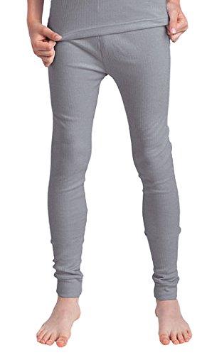 Good Deal Market 2 Stück Kinder Thermo Unterhosen, Lange Unterhose für Kinder, innen angeraut, grau Gr. 158/164