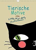 Tierische Motive von Little Miss Arty Illustrationen (Wandkalender 2022 DIN A4 hoch): Schoener Kalender mit 12 tollen Tiermotiven, die nicht nur Kinderherzen hoeher schlagen lassen. (Geburtstagskalender, 14 Seiten )