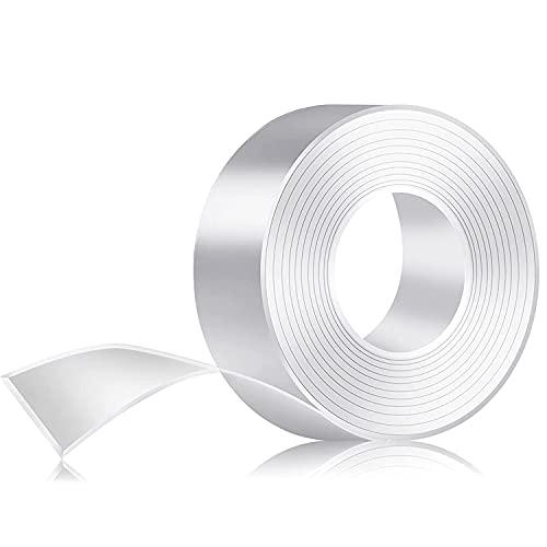 B.ANGEL 両面テープ 超強力 魔法のテープ 強力両面テープ 透明テープ 滑り止め 耐震 魔法テープ 繰り返し はがせる 洗濯可能 粘着テープ 家庭 オフィス 寮 学校 会社 作業用(3cm×0.2cm×1m)