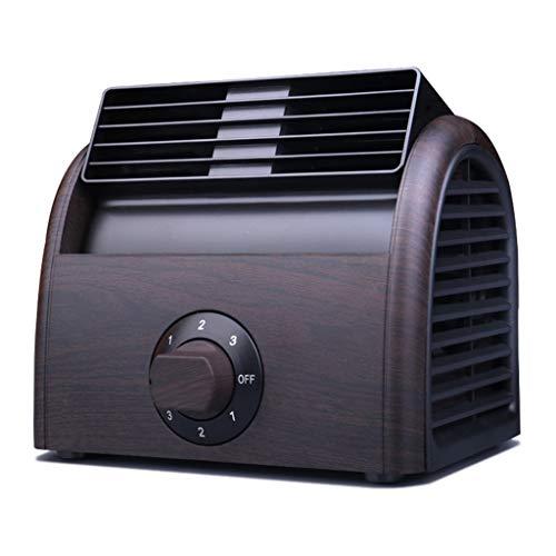 YCBB Bureauventilator, geruisloze USB-ventilator met verstelbare kop, 3 snelheden, mini-desktopventilator voor thuis, kantoor, outdoor-reizen