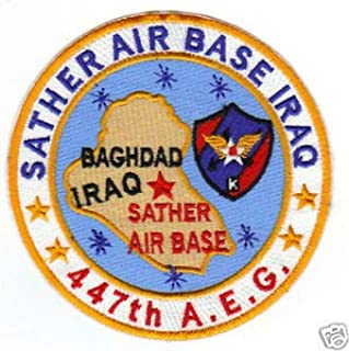 USAF Base Patch, SATHER AIR Base Iraq, 447 A.E.G. Y by HighQ Store
