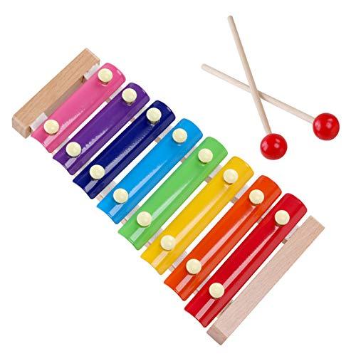 WFF Spielzeug Xylophone for 3+ Jahre Alten Kinder, Naturholzkleinkind Baby Puzzle Spieluhr, mit 2 Holzschlägel und 8 Tonskala Lernen Bildungsmusikinstrumente (Color : 1 Piece)