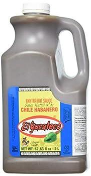 El Yucateco Hot Sauce 2 Liter/Half Gallon  67.63 fl oz   XXXTRA HOT HABANERO