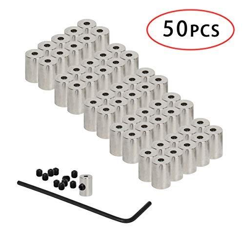 Funhoo Pin Badge Brosche Wappen Anstecker Pinhalter Verschluss Pinsicherung Set aus Edelstahl mit 50 Verschlüsse, 50 Hüte, 1 Verriegelungswerkzeug Stellschrauber