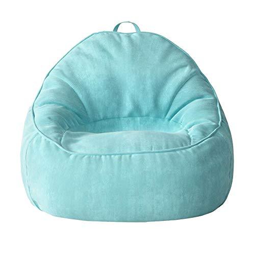 Sedie Beanbag Adulto Highback Tessuto di Velluto A Coste Lettino Reclinabile Gigante Sacchi di Fagioli Cuscino da Pavimento Divano Letto Soggiorno ZX Casa Poltrone (Color : Blue)