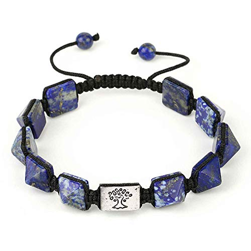 Natural Gemstone Beaded Bracelet Gem Stone with Braided Rope Unisex, Therapy 7 Chakra Bracelet Unisex Semi Precious Stone Bracelet,C