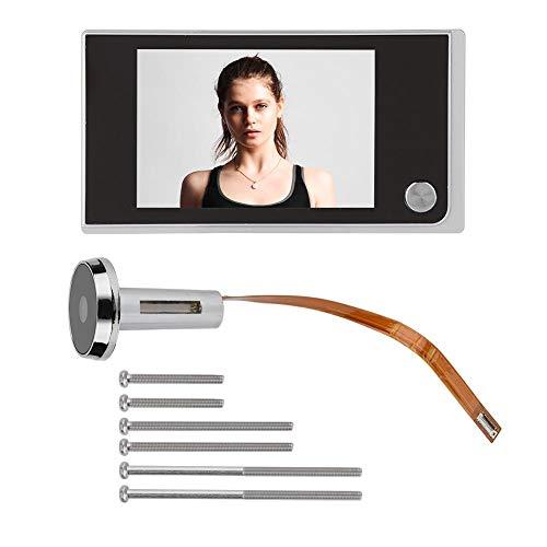 """Alomejor - LCD Digital de 3.5"""", Visor de mirillas de 120 Grados, monitoreo Visual fotográfico, cámara electrónica para Ojos de Gato"""