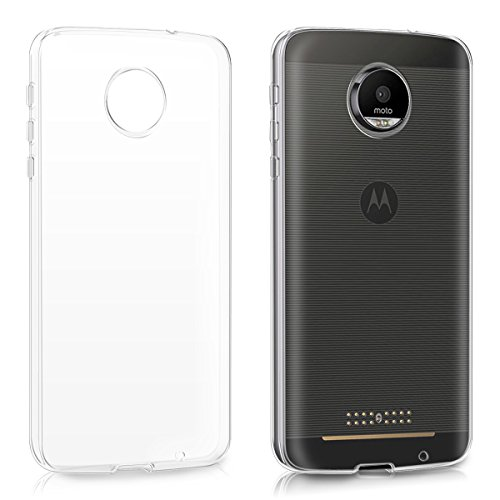 kwmobile Funda Compatible con Motorola Moto Z - Carcasa de TPU para móvil - Cover Trasero en Transparente