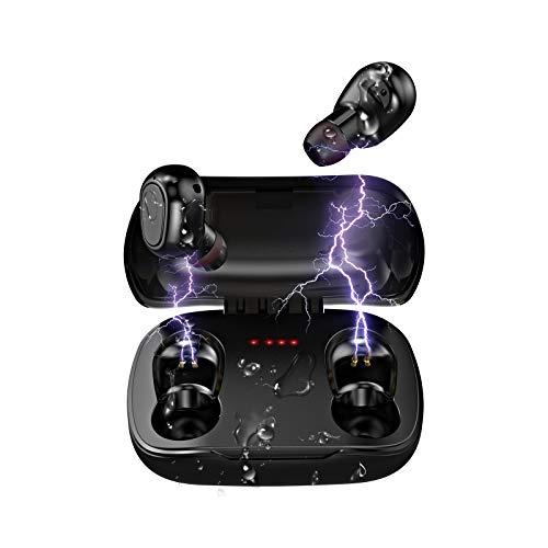 Auriculares Inalambricos Bluetooth | LESHP Auriculares Bluetooth con Audio de Alta Fidelidad y Llamadas de Alta Definición, IPX5 Impermeable