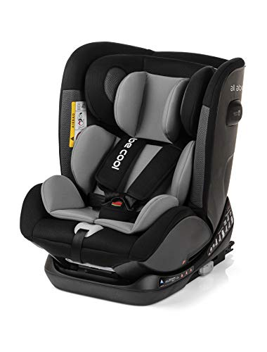 Be Cool All Aboard Silla de Coche Grupo 0 1 2 3, de 0 a 36 kg, Isofix y Top Tether, Arnés de 5 Puntos, Color Metal ✅