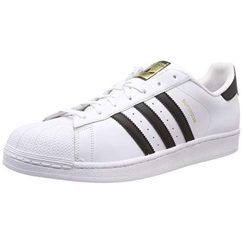 Adidas, Superstar Foundation, scarpe sportive da uomo, (Bianco (Ftwr White/Core Black/Ftwr White)), 44 EU