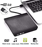 QueenDer Masterizzatore Lettore Dvd CD Esterno USB 3.0 Drive CD-RW Dispositivo Lettore Schede...