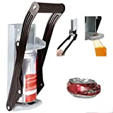16oz 500ml Large Beer Tin Can Crusher, Wall Mounted ECO-Friendly Recycling Tool 2 in 1 Can Crusher and Bottle Opener, Aluminium Drinking Tin Can Kitchen Recycle Tool with Soft Grip Foam Handle