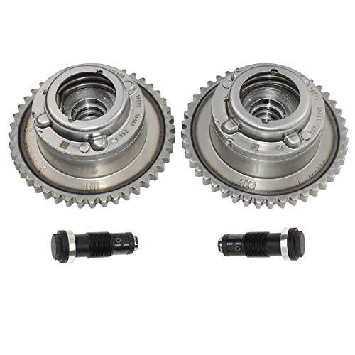 Exhaust + Intake Camshaft Adjuster Actuators Tensioners Kit 2710500911 For Mercedes C250 E250 SLK250 M271