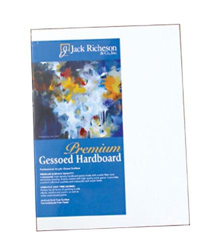 Jack Richeson 1/8-Inch Premium Tempered Gessoed Hardboard Panel, 14-Inch by 18-Inch