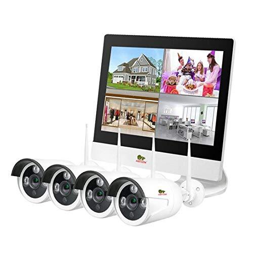 Beveiligings Camera Outdoor draadloze kit LCD 4 maal 1 megapixel camera