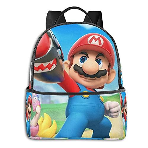 Super Mario mochila casual mochila escolar al aire libre ligera resistente al desgarro portátil mochilas niñas niños adultos