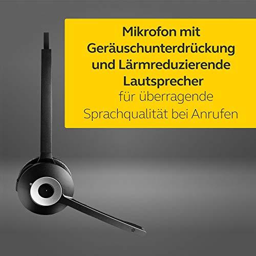 Jabra Pro 930 MS DECT Kabelloses On-Ear Mono Headset - Skype for Business zertifiziert - HD Voice und Noise Cancelling - zur Verwendung mit Softphones in Europa - EU-Stecker