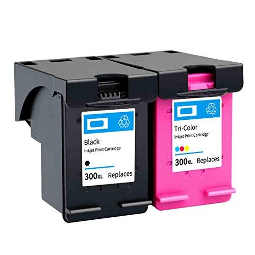 Cartucho de tinta 300XL, repuesto para impresora HP D1660, 2560, 2660, 5560, F2423, 4283, ENVY 100, PhotoSmart C4600, compatible con cartuchos de tinta negro y tricolor negro y color