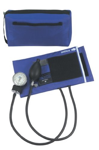 MABIS MatchMates Aneroid Sphygmomanometer Manual Blood Pressure Monitor Kit with Calibrated Nylon Cuff and Carrying Case, Professional Quality, Royal Blue -  01-160-211
