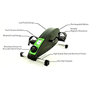 FlintFit Cycli: Bluetooth Portable Stationary Cycle Under Desk Cycle for Calorie Burning