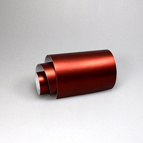 TipTopCarbon 16,45€/m² Chrom Autofolie Matt Ice Rot 0,5m x 1,52m Auto Folie BLASENFREI mit Luftkanälen 3D Flex
