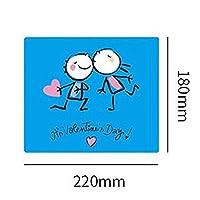 LIFANG 快適なマウスパッド、そしてウェアラブルラバーマウスパッド、簡単にきれいな、白、180x220mm (Color : Blue)