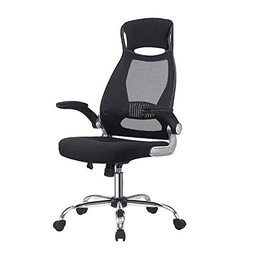 Silla de ordenador ergonómica de escritorio, silla de oficina ergonómica, silla de escritorio de malla de respaldo alto, ajustable, silla de trabajo de escritorio, cómoda y fiable