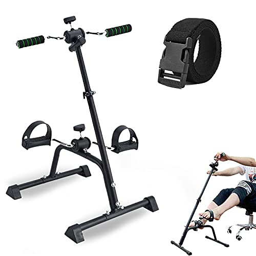 SYNTEAM Compact Mini Exercise Bike Arms and Legs Adjustable Fit Sit...