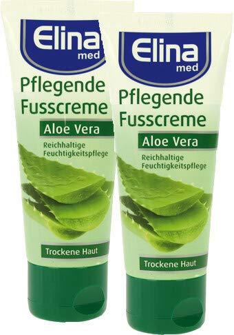 Elina Aloe Vera Fusscreme 75ml Tube, 2er Pack