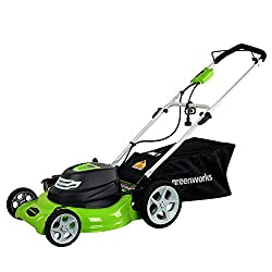 electric lawn mower green works