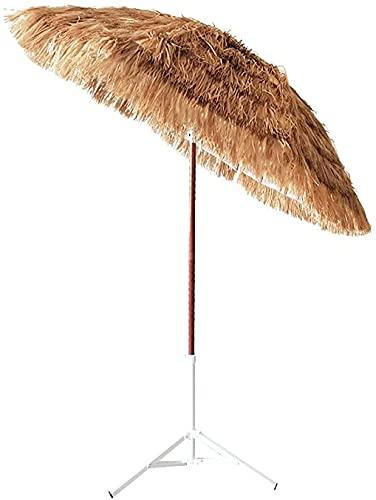 YZJL Sombrillas Sombrilla de Paja de Playa, sombrillas de Playa de jardín de Patio Trasero de Piscina, sombrilla de Altura Ajustable marquesinas y toldos