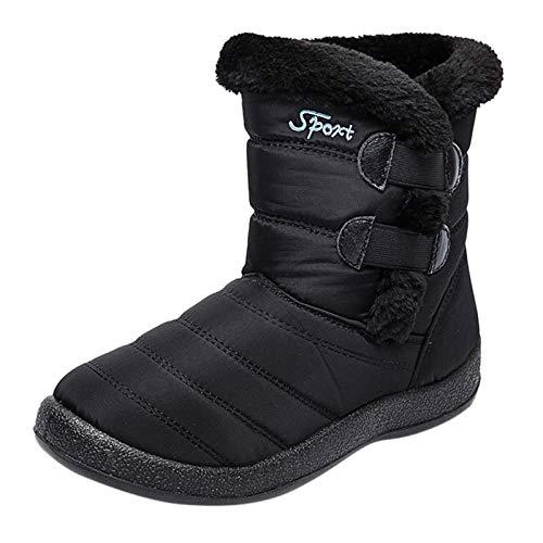 YueLove - Raquettes à neige pour femme - Légères et imperméables - Antidérapantes - Pour l'hiver - Chaudes - Bottes en velours