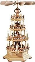 هرم عيد الميلاد الألمانية موضوع ارزجبرجي ، 3-الطبقة، ارتفاع 63 سم / 25 بوصة، والطبيعية، الكهربائية مضاءة ومدفوعة (230V، 50...