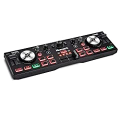 Ultra-Portable, Feature Packed – Compact 2 channel Serato DJ Lite (Included) USB DJ Controller for Mac and PC; MIDI mapping for use with other popular DJ Software (including Virtual DJ) Connectivity Covered – On-board audio interface with 1/8-inch he...