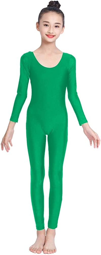 OVIGILY Girls Kids Long Unitard Sales of SALE items from half new works Dance Sleeve Bodysuits