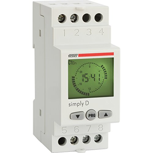 Vemer ve512000 Interruptor Horario Digital Simply-d, Gris Claro