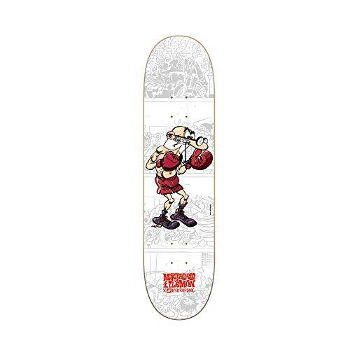 Hydroponic Mortadelo Boxing Skate Deck, Unisex Adulto, White, 7,875