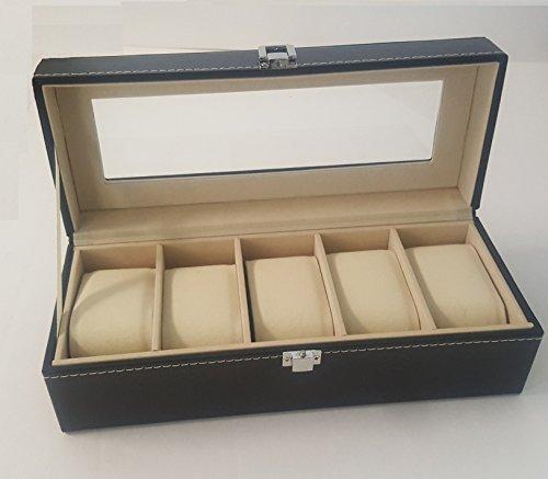 Virtual de estilo vintage reloj/pantalla de joyería caja de almacenaje caso Lock Protector de rejilla de la tapa (5)