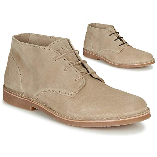 SELECTED ROYCE DESERT LIGHT SUEDE Enkellaarzen/Low boots heren Creme Laarzen