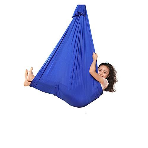 YANFEI Columpio sensorial Terapia Swing Therapy Swing para niños con Necesidades Especiales Soft Elastic Transpirable Hamaca para Exteriores al Aire Libre Flexibilidad y Fuerza Central mejoradas
